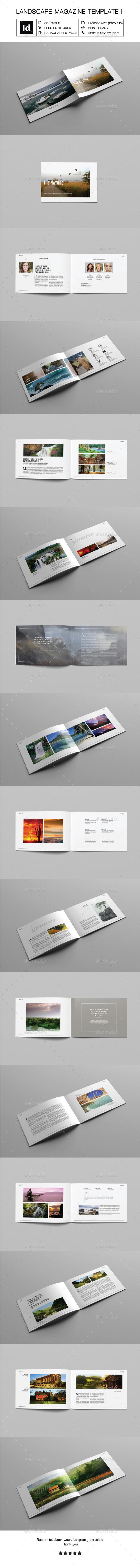 Landscape Magazine Template II - Magazines Print Templates