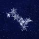 Snow crystals on dark blue background - PhotoDune Item for Sale