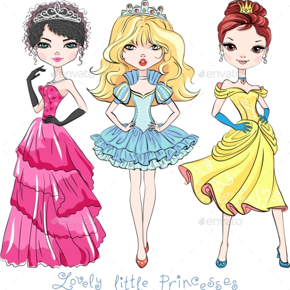 Fashion Girl Princesses - People Characters