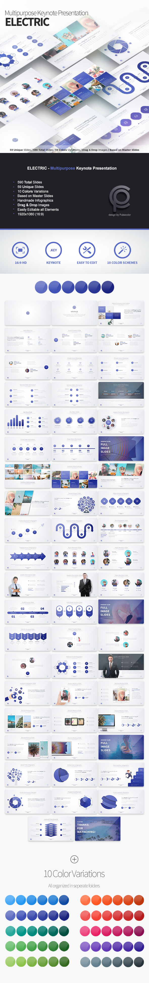 ELECTRIC - Multipurpose Keynote Presentation - Business Keynote Templates