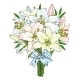 Bouquet of Lily Flowers Tied with Ribbon - GraphicRiver Item for Sale