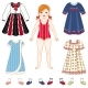 Paper Doll and Set of Clothes - Dresses and Shoes - GraphicRiver Item for Sale