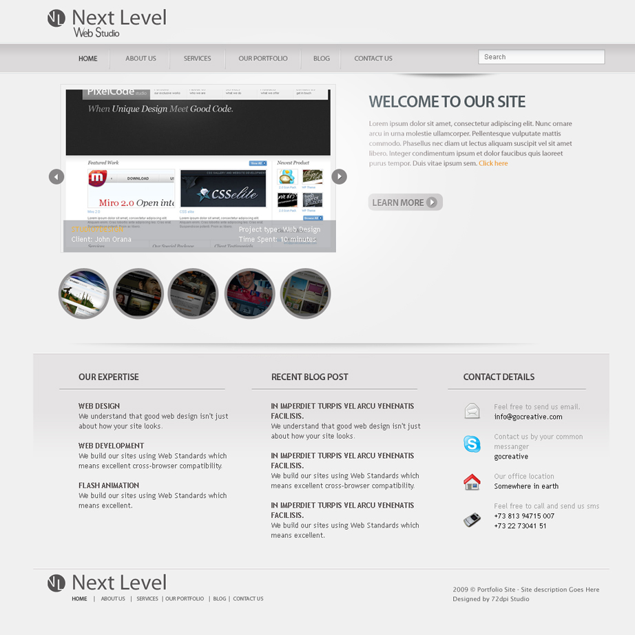 Next level a premium psd template by b0tack themeforest for Next level homes