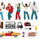 Rap Singers Accessories Flat Set