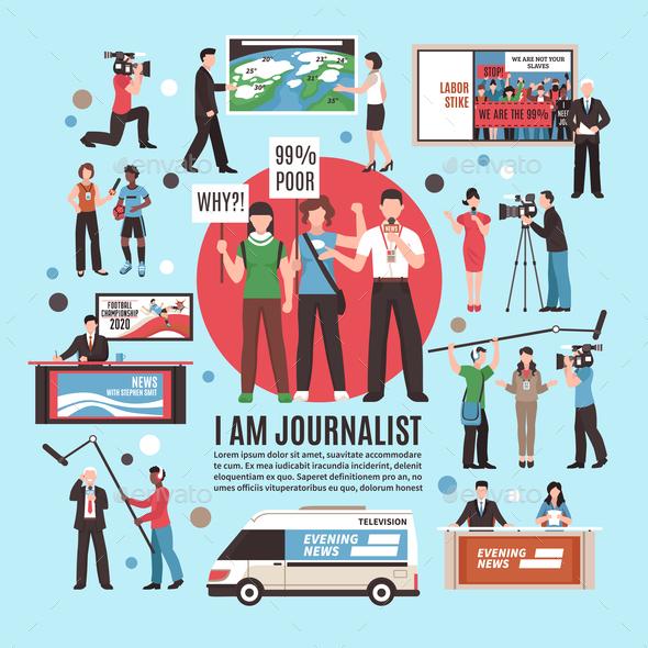 Journalist Profession Composition - Sports/Activity Conceptual