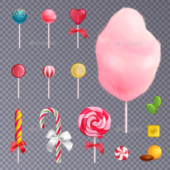 Sweets Transparent Background Set - Food Objects