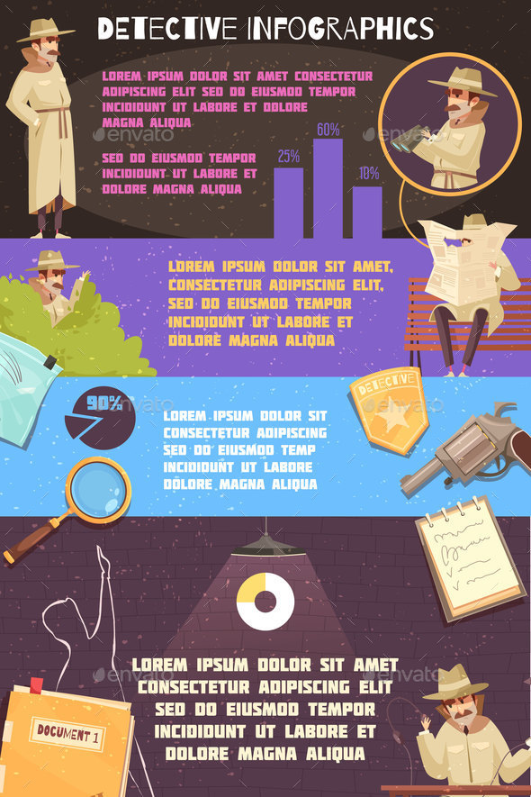 Detective Agency Infographics Poster - Business Conceptual