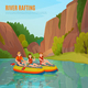 River Rafting Outdoor Composition