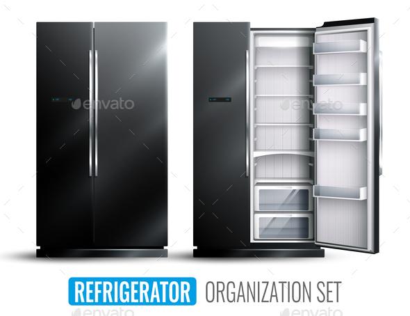 Refrigerator Organization Monochrome Set - Food Objects