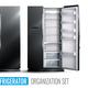 Refrigerator Organization Monochrome Set