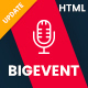 BigEvent - Event, Conference & Meetup HTML Template - ThemeForest Item for Sale