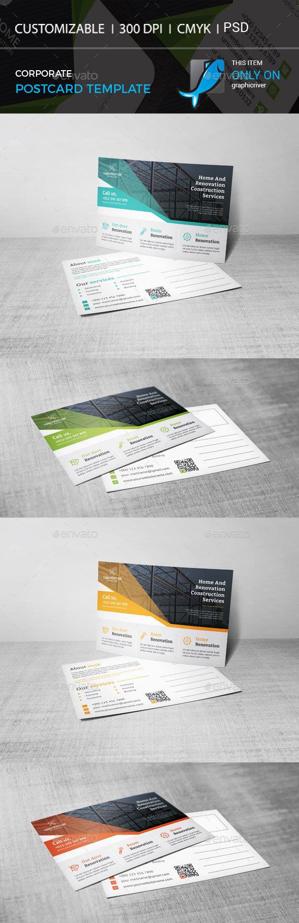 Postcard Template - Cards & Invites Print Templates