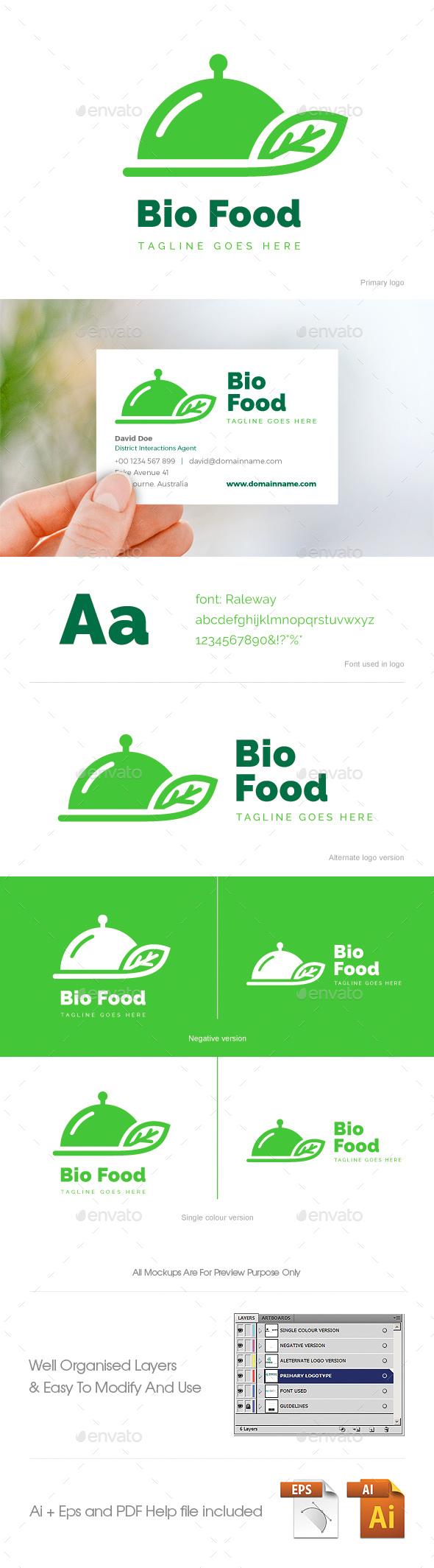 Bio Food Logo - Food Logo Templates