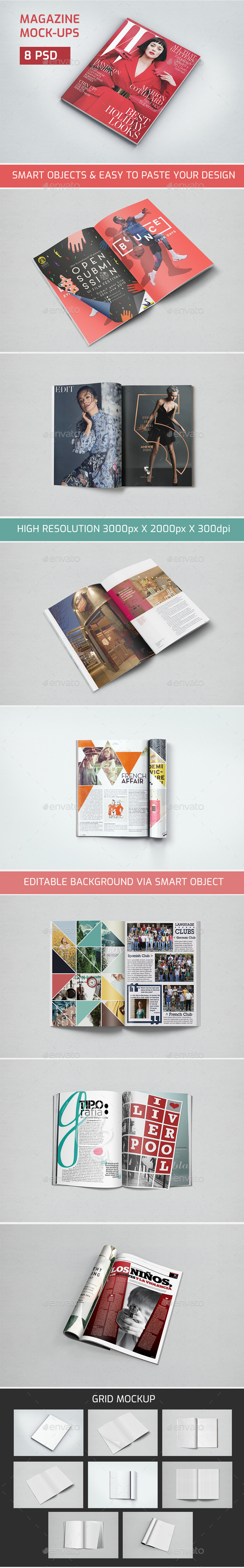 Magazine Mock up - Magazines Print Templates