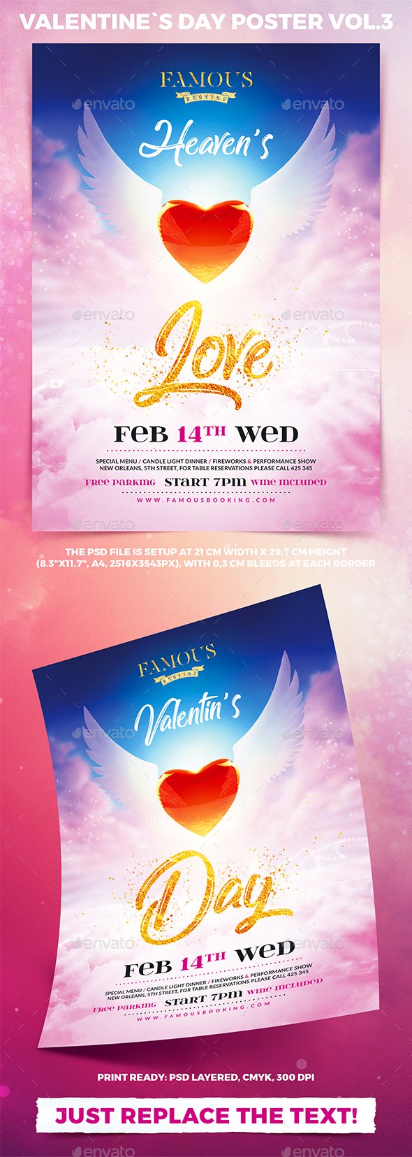 Valentine`s Day Party Poster Vol.3 - Holidays Events