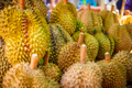Durian Fruits For Sale On Market Stall - PhotoDune Item for Sale