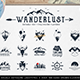 Wanderlust. 15 Double Exposure Logos - GraphicRiver Item for Sale
