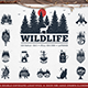 WildLife. 15 Double Exposure Logos - GraphicRiver Item for Sale