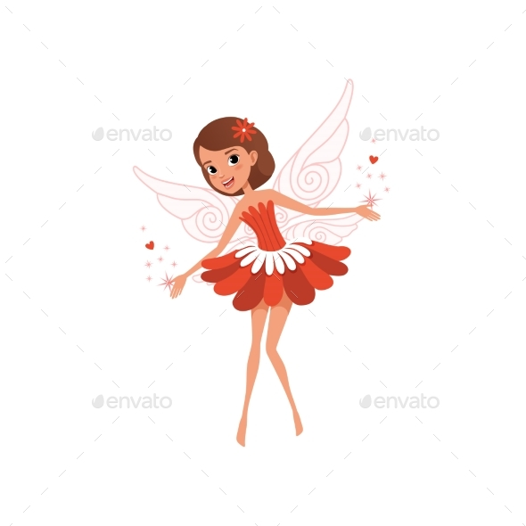 Flying Fairy Spreading Magical Dust. - People Characters