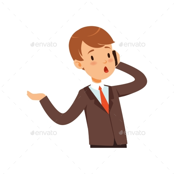 Businessman Character, Boy in a Business Suit - People Characters