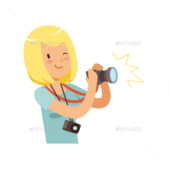 Girl Taking Pictures, Young Professional - People Characters