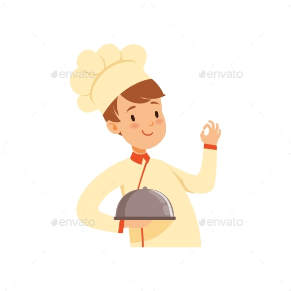 Chef Cook Character with Cloche - People Characters