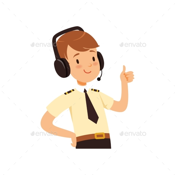 Air Traffic Controller Character, Boy in Uniform - People Characters