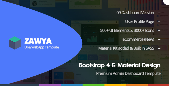 Image of Zawya - Bootstrap 4 & Material Design Premium Admin Dashboard Template