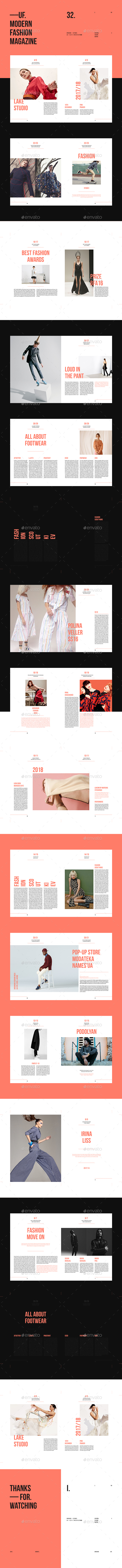 UF — Fashion Brochure Template - Brochures Print Templates