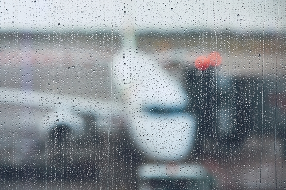 Storm at the airport - Stock Photo - Images