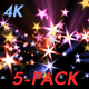 Holiday Star Trails - Pack of 5 - 4K - VideoHive Item for Sale