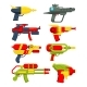 Water Guns. Weapons Toys for Childrens