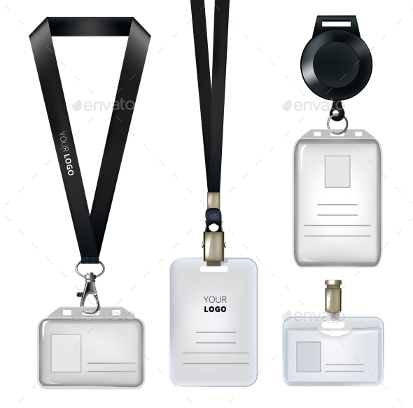 Realistic Template of Identification Card - Objects Vectors