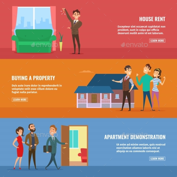 Business Concept Illustrations Set. Real Estate - People Characters
