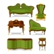 Retro Old Decorative Furniture for Living Room - GraphicRiver Item for Sale