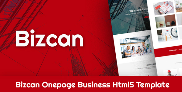 Image of BIZCAN Onepage Business HTML5 Template