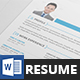 MS Word Clean Resume CV with Cover Letter - GraphicRiver Item for Sale