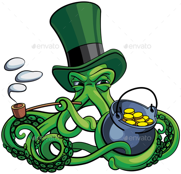 Octopus the Suspicious Leprechaun - Monsters Characters