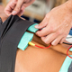 Download Electrical stimulation in physical therapy. Therapist positionin from PhotoDune