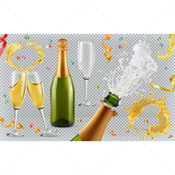 Champagne - Miscellaneous Vectors