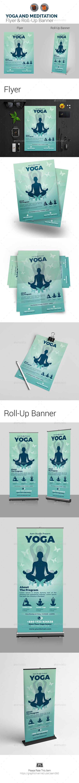 Yoga Flyer & Roll Up Banner Bundle - Print Templates