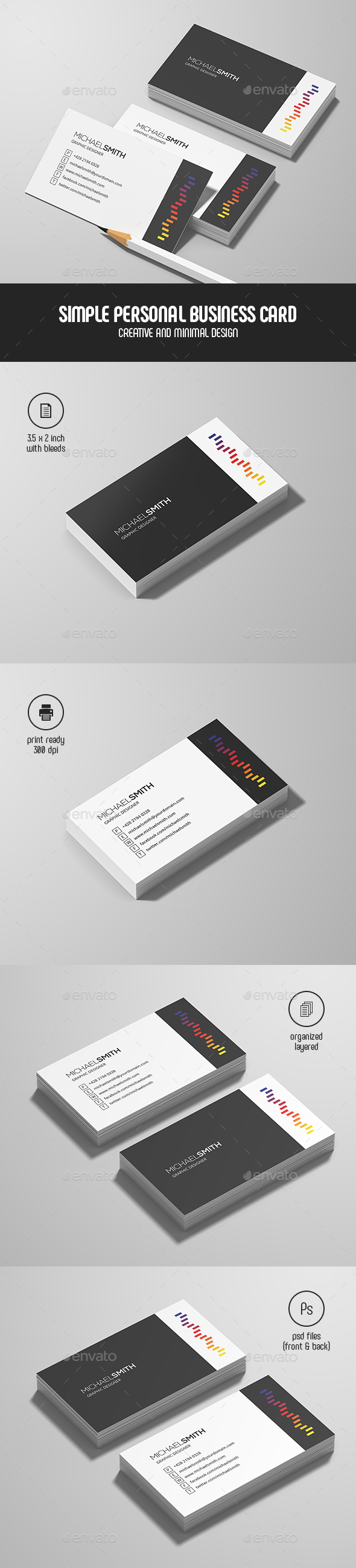 Simple Personal Business Card - Creative Business Cards