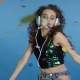 Party Girl and Headphones - VideoHive Item for Sale