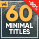 Simplicity Title Pack - VideoHive Item for Sale