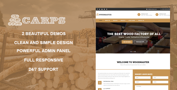 Carps - Wood Carpentry WordPress Theme