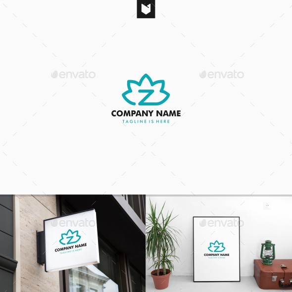 Zen Lotus Z Letter Logo - Nature Logo Templates