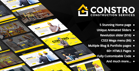 Constro - Construction Business HTML5 Template - Business Corporate