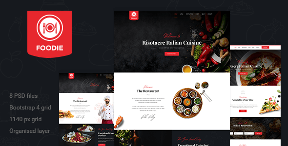 Foodie | Restaurent PSD Template
