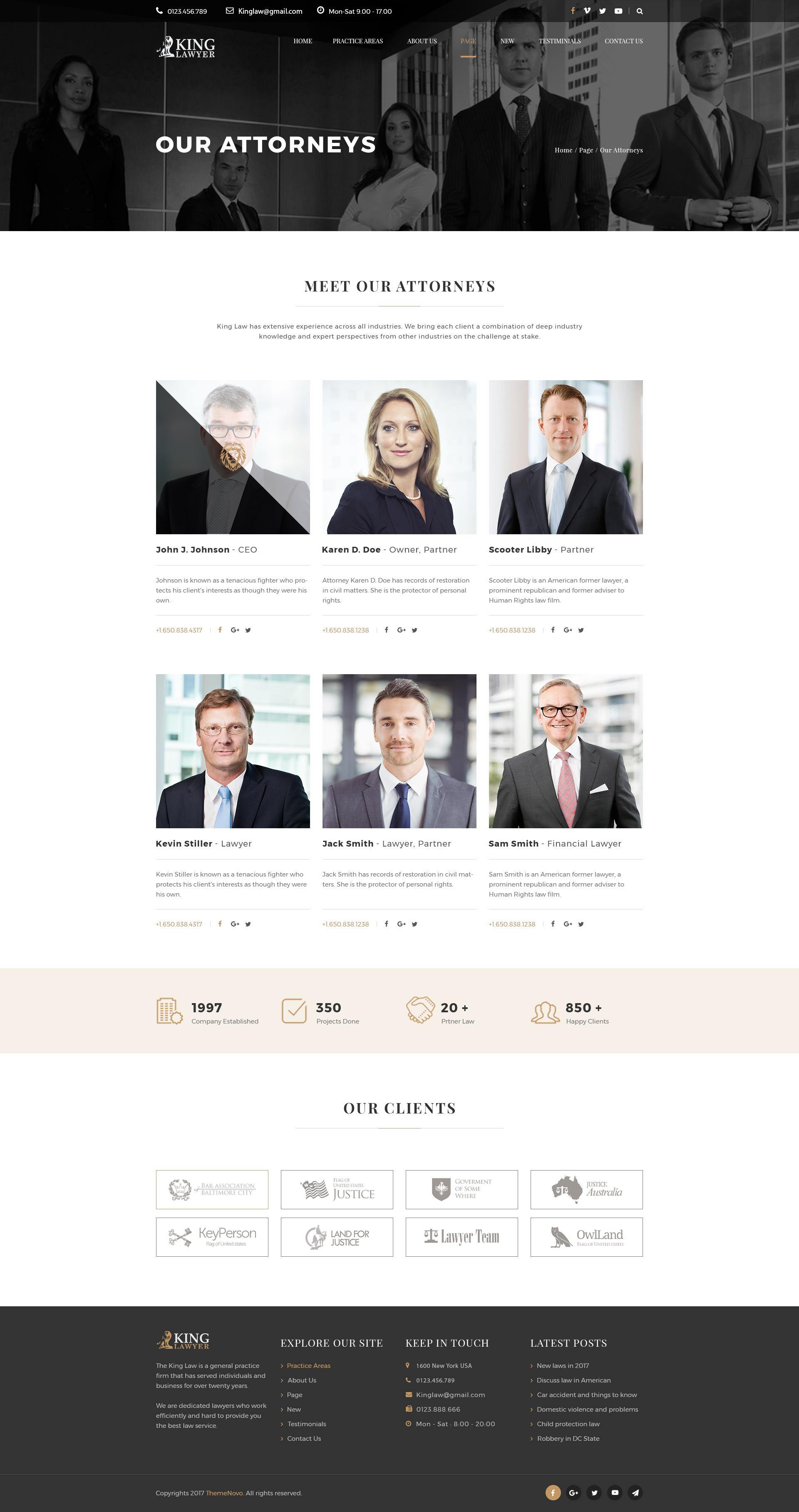 Kinglaw - Attorney & Lawyer PSD Template by ThemeNovo ...