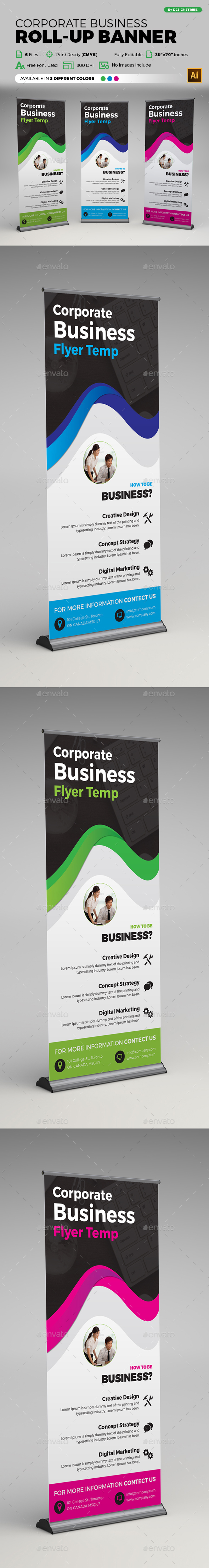 Corporate Business Roll-up Banner - Signage Print Templates
